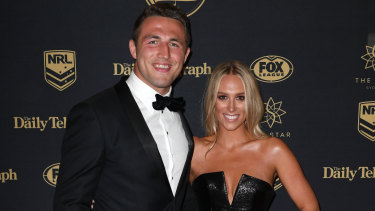 Sam and wife Phoebe Burgess at the Dally Ms in 2017.