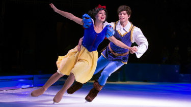 Snow White and her prince in  'Disney on Ice: 100 Years of Magic'.