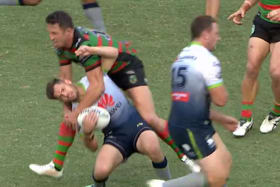Burgess back with a bang but in trouble again as Rabbitohs crush Raiders
