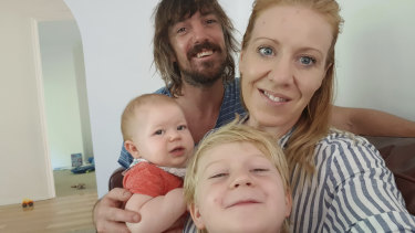 Amy Nelmes Bissett has been in self-isolation with her family for 12 weeks after returning from overseas.