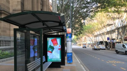 Revenue from Brisbane's bus stop ads nearly doubles in a year