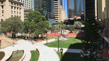 Brisbane's Anzac Square was still being restored in January, despite initial plans to have it completed by November last year.