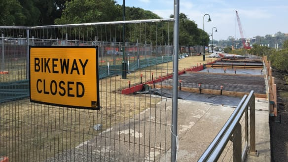 Sections of New Farm Park cordoned off during upgrades