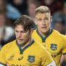 The Wallabies leave the field after another Bledisloe Cup loss to New Zealand earlier this year.
