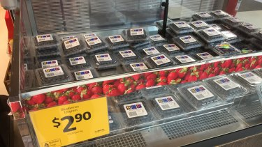 Strawberries have made way for blueberries at some supermarkets.