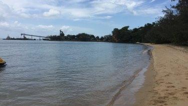 A boardwalk will be buillt around this bay at Adams Beach near Dunwich on Stradbroke Island.