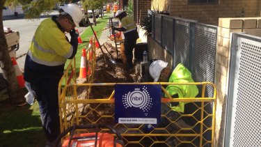 The NBN is being installed in Perth's CBD.