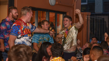 Reds youngster Michael Wood was shattered to not win the best dressed award at the RUPA camp dinner.
