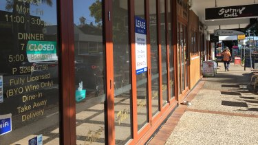 Empty shops and low foot traffic along Racecourse Road have worried business owners.