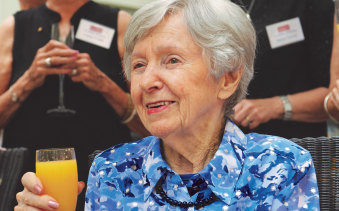 Joan Halliday at her 100th birthday celebrations.
