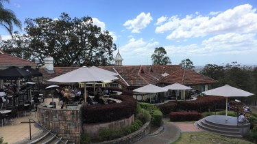 The Summit restaurant is housed in the heritage-listed building at the top of Mount Coot-tha.