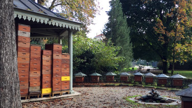The apiary at Paris' Jardin de Luxembourg.