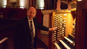 David Parsons at the Sydney Town Hall organ.