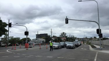 The new street lights at the intersection of Lytton Road and Kulpurum Street were switched on Tuesday morning.