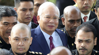 Former Malaysian prime minister Najib Razak has pleaded not guilty to charges relating to an investigation involving state development fund 1MDB.
