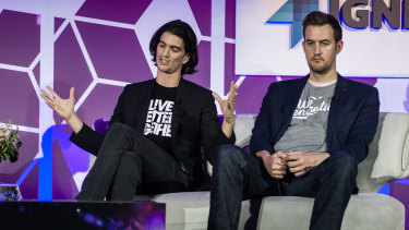 WeWork co-founders Adam Neumann and Miguel McKelvey.
