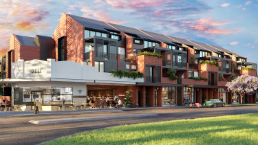 An artist's impression for Willing Group's deli apartment development on Clifton Street, with the corner of Central Avenue, in Mount Lawley; complete with coffee shop and wine bar.