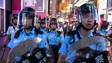 Continuing unrest rocks Hong Kong.