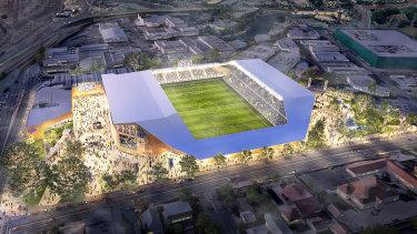 The Brisbane Strikers planned a 15,000-seat stadium at Perry Park when the club was preparing its failed A-League bid.
