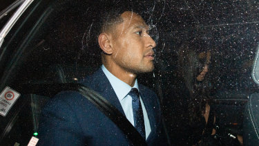 On the outer: Wallabies star Israel Folau admitted his actions had caused problems for Rugby Australia.