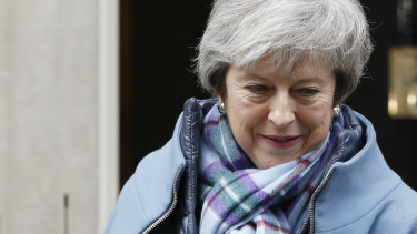 Theresa May leaves number 10 Downing Street on Tuesday.