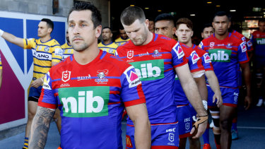 Over the top: Mitchell Pearce was fined $125,000.