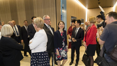 GladysBerejiklian at the opening of the Northern Beaches Hospital in Frenchs Forest.
