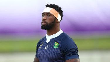 Siya Kolisi at Springboks training.