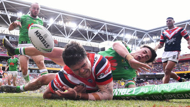 Points machine: Latrell Mitchell is on the cusp of joining exalted company.
