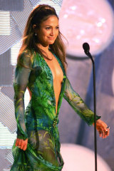 The original palm dress at the 2000 Grammys.