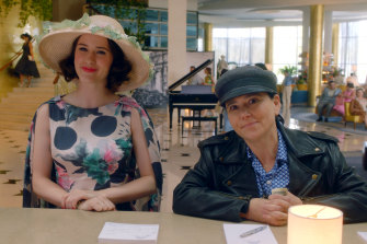Midge Maisel (Rachel Brosnahan) and her manager Susie (Alex Borstein), one of TV's great odd couples.