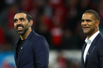 Swans legends Adam Goodes and Michael O'Loughlin founded the GO Foundation to empower Indigenous youth through education.