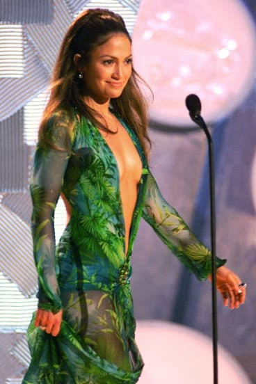 Versace has also revived the Jennifer Lopez 'palm' dress from the 2000 Grammys.