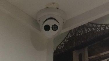 A CCTV camera in a Brisbane CityCat crew meal room.