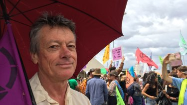Robert Cooper at the protest.