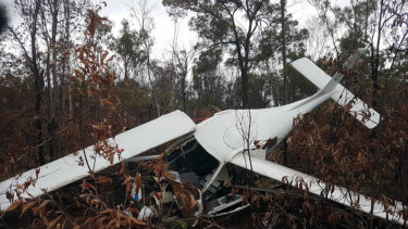 The 62-year-old man was walking around the crash site when the rescue crew arrived.