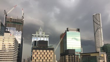 Storms were predicted to roll over Brisbane on Tuesday afternoon.