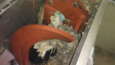 Workers are increasingly finding things that shouldn't be in Sydney's sewer system, like nappies.