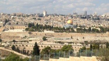 Jerusalem's skyline from the Mount of Olives.