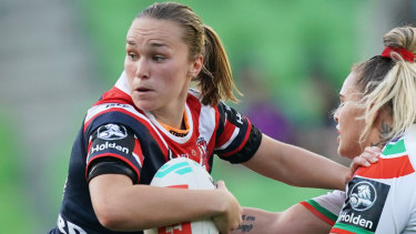"""""""The quality of opposition was amazing"""": Kirra Dibb in action against the Warriors."""