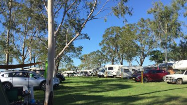 The stop Adani convoy camp was peaceful on Sunday morning.
