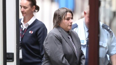 Zoe Giannioudis arrives at the Supreme Court for sentencing on Thursday.