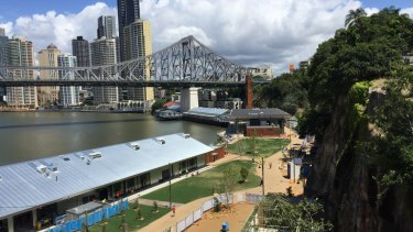 The shared pathway behind the Wharves is hazardous to cyclists and pedestrians, Space for Cycling Brisbane says.