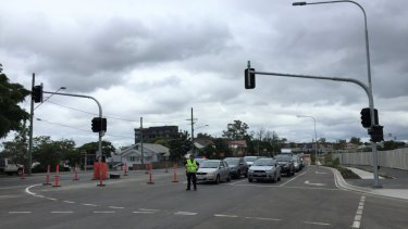 The new street lights at the intersection of Wynnum Road and Kulpurum Street were switched on Tuesday morning.