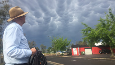 A brief storm hit Canberra on Friday.