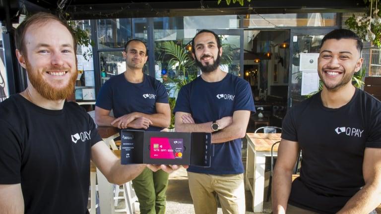 The QPay team: Andrew Clapham, Moe Satti,  Zaki Bouguettaya and Ahmed Elshearif.