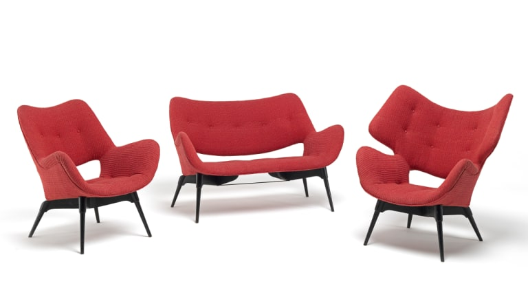 This lounge suite is among the many items included in <i>Design for Life</i>.