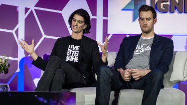 The co-founders of WeWork, Adam Neumann and Miguel McKelvey.