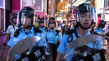 Continuing unrest rocks Hong Kong.