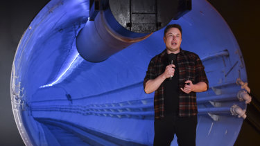 Elon Musk has costed an idea by a former Greens MP to build a tunnel under the Blue Mountains.